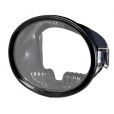 Маска для плавания IST Tortuga, с резиновым обтюратором, черная рамка