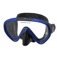 Маска для плавания IST Scope, синяя рамка, черный силикон