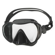 Маска для плавания Aropec Navy, безрамочная, черный силикон