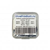 Набор резиновых уплотнительных колец DiveProduct, 10шт, в пластиковом боксе