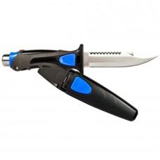Нож водолазный Aropec Ocean, нержавеющая сталь, пластиковые ножны