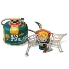 Мини-газовая плита BURAN, резьбовое соединение со шлангом